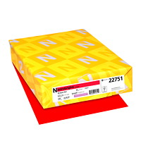 Neenah Astrobrights Cover Paper, Re-Entry Red, Letter-Size, FSC And Green Seal Certified, 65 lb., Ream