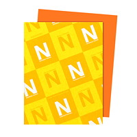 Neenah Astrobrights Cosmic Orange Paper, Letter-Size, FSC And Green Seal Certified, 24 lb., Ream