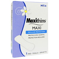 Hospeco Maxithins Regular Maxi Pads, 250/CT - Only available in British Columbia and Alberta