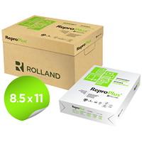 Papier recyclé ReproPlus Rolland, blanc, format lettre, caisse de 5