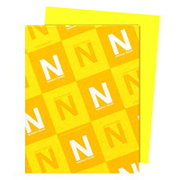 Neenah Astrobrights Lift-Off Lemon Paper, Letter-Size, FSC And Green Seal Certified, 24 lb., Ream