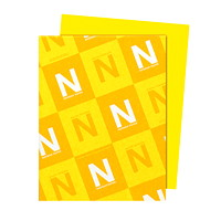 Papier Astrobrights Neenah, jaune solaire, format lettre, certifié FSC et Green Seal, 24lb, rame
