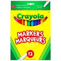 Marqueurs à trait fin Crayola, couleurs variées, emb. de 12