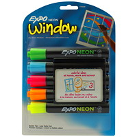 Expo Neon Dry-Erase/Window Markers