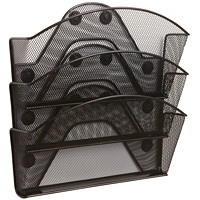 Safco Magnetic Mesh File Pocket, Triple-file