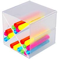 Cube de rangement empilable à 4 compartiments Deflecto