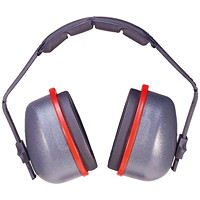 TASCO 2900 Sound Shield Over-the-Head Earmuffs, NRR=29, Grey
