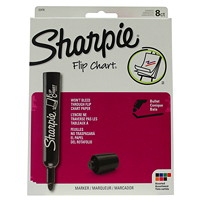 Sharpie Flip Chart Markers, Assorted Colours, Bullet Tip, 8/PK