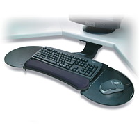 Kensington Sit/Stand Fully Adjustable Articulating Keyboard Platform with SmartFit System, Black