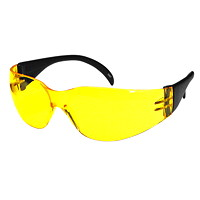 Dentec Citation Series 931 Safety Glasses, With Yellow/Amber Lens
