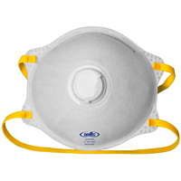Dentec AD2 Series N95 Cone-Shaped Disposable Respirators, With Valve, 12/BX
