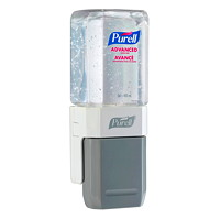 Purell ES Advanced Gel Hand Sanitizer Starter Kit with Compact Push-Style Dispenser, 70% Alcohol Content, 450 mL