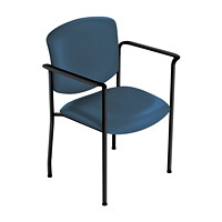 healtHcentric Upholstered Stacker Chair