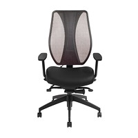 ergoCentric tCentric Hybrid Mesh Back Boardroom Chair, Black