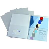 Porte-documents à deux pochettes Winnable, transparent, format lettre, emb. de 5