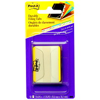Post-it Durable Filing Tabs with Yellow Colour Bars, 2