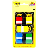 Post-it Standard Flags, Assorted Colours, 1