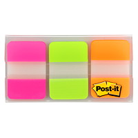 Post-it Durable Tabs, Fluorescent Pink/Green/Orange, 1