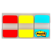 Post-it Durable Tabs, Red/Yellow/Blue, 1