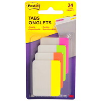 Post-it Durable Filing Tabs, Assorted Bright Colours, 2
