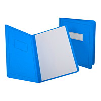 Oxford Report Covers with Embossed Border & Panel, Light Blue