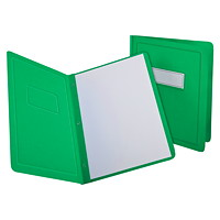 Oxford Report Covers with Embossed Border & Panel, Green
