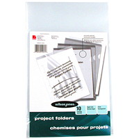 Wilson Jones Plastic Project Folders, Clear, Legal Size, 10/PK