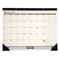 Sous-main avec calendrier bicolore recycl� At-A-Glance