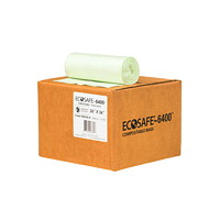 EcoSafe Compostable Bags, Opaque Green, 26