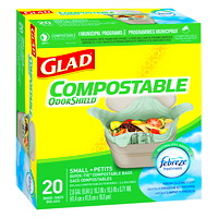 Glad Biodegradable Small Easy-Tie Kitchen Compostable Bags