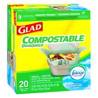 Sacs à ordures compostables biodégradables pour la cuisine à noeud facile Glad