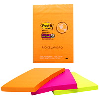 Post-it Super Sticky Notes in Rio de Janeiro Colour Collection, Lined, 4
