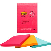 Post-it Original Notes in Cape Town Colour Collection, Lined, 4