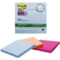Feuillets recyclés super collants aux couleurs Bali Post-it