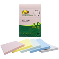 Post-it Greener Notes, Helsinki Colour Collection, Lined, 4