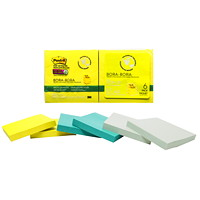Post-it Super Sticky Pop-Up Notes, Unlined, Bora Bora Collection, 3