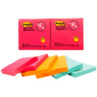 Post-it Original Pop-Up Notes in Cape Town Collection Colours, Unlined, 3