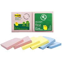 Post-it Greener Pop-up Notes in Helsinki Colour Collection, Unlined, 3