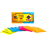 Post-it Super Sticky Full-Adhesive Notes in Rio De Janeiro Colour Collection