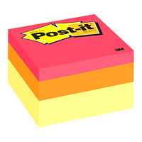Post-it Original Note Cube in Assorted Colours, Canary Wave, 2