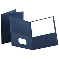 Oxford Embossed Twin-Pocket Report Cover Folders