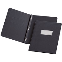 Oxford Report Covers with Embossed Border & Panel, Black