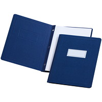 Oxford Report Covers with Embossed Border & Panel, Dark Blue