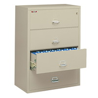 FireKing Insulated 4-Drawer Lateral File