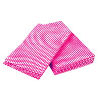 Dura Plus Luxury 1/4 Fold Food Service Towels, Pink/White, 12