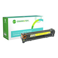 Grand & Toy Remanufactured HP 125A Yellow Standard Yield Toner Cartridge (CB542A)