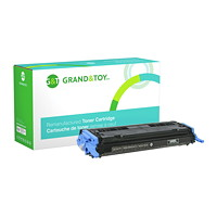 Grand & Toy Remanufactured HP 124A Black Standard Yield Toner Cartridge (Q6000A)