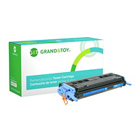 Grand & Toy Remanufactured HP 124A Cyan Standard Yield Toner Cartridge (Q6001A)