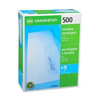 Grand & Toy White Business Envelopes with Address Window