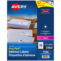 Avery White Easy Peel Address Labels